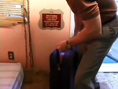 midget bridget powers out off a suitcase