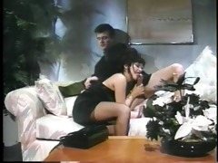 after dinner woman sucks her date&s ramrod on