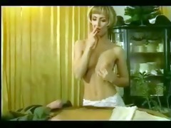 classic vintage hottie seduces retro guy