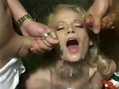 world bukkake record ! amazing ! vintage video