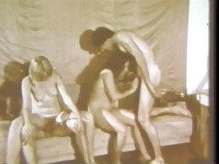 vintage: old school unshaved foursome