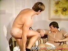 tattooed chap blowjob, 69 & huge cumshot -