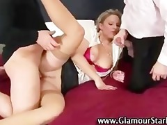 hot glam golden-haired fucked