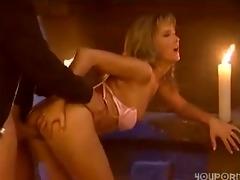 sexy little blonde receives screwed by her boy