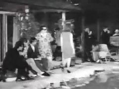 sixties pool party disrobe