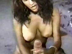 dirty talker gives wonderful handjob