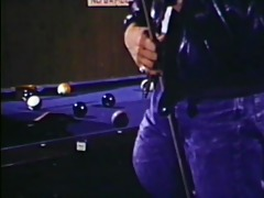 lengthy cue and big balls - classic bareback film