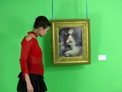 an erotic tease 002 - hot carol at the exhibition