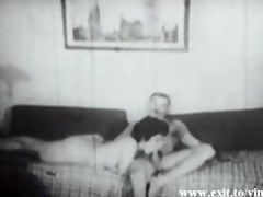 amateur vintage 1922 with curly housewife
