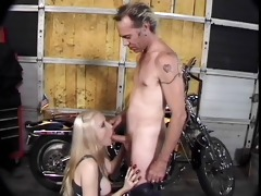 classic sexy cougar banging biker