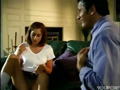 daughter seduced divorced old dad