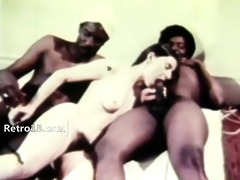 luxury retro threesome fucking