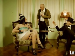 lady and maid get punished and drilled by