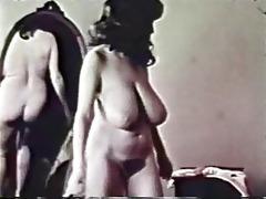 classic pornbusty brunette shaving