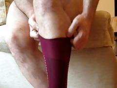 red vintage socks