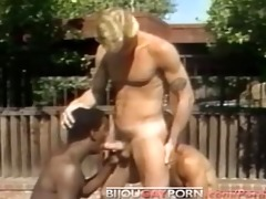 outdoor threeway and voyeur - classic 80s