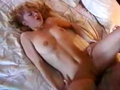 hot golden-haired swallows cum
