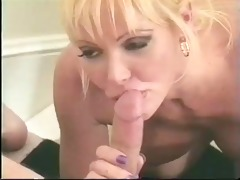 classic breasty golden-haired cougar banged on