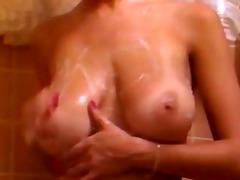 busty vintage shower